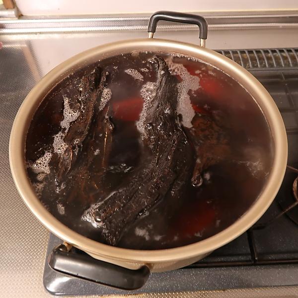 流木 煮る 煮沸